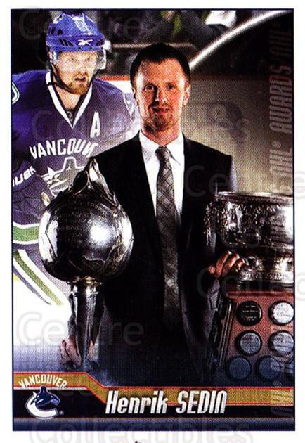 2010-11 Panini Stickers #323 Henrik Sedin, Art Ross Trophy<br/>1 In Stock - $1.00 each - <a href=https://centericecollectibles.foxycart.com/cart?name=2010-11%20Panini%20Stickers%20%23323%20Henrik%20Sedin,%20A...&quantity_max=1&price=$1.00&code=755382 class=foxycart> Buy it now! </a>