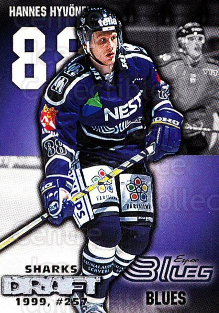 1999-00 Finnish Cardset #13 Hannes Hyvonen<br/>6 In Stock - $2.00 each - <a href=https://centericecollectibles.foxycart.com/cart?name=1999-00%20Finnish%20Cardset%20%2313%20Hannes%20Hyvonen...&quantity_max=6&price=$2.00&code=75541 class=foxycart> Buy it now! </a>