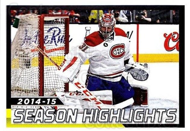 2015-16 Panini Stickers #8 Carey Price<br/>1 In Stock - $5.00 each - <a href=https://centericecollectibles.foxycart.com/cart?name=2015-16%20Panini%20Stickers%20%238%20Carey%20Price...&quantity_max=1&price=$5.00&code=755431 class=foxycart> Buy it now! </a>