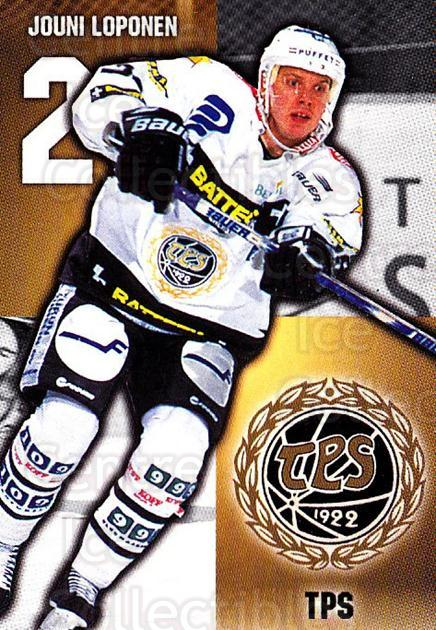 1999-00 Finnish Cardset #134 Jouni Loponen<br/>7 In Stock - $2.00 each - <a href=https://centericecollectibles.foxycart.com/cart?name=1999-00%20Finnish%20Cardset%20%23134%20Jouni%20Loponen...&quantity_max=7&price=$2.00&code=75546 class=foxycart> Buy it now! </a>
