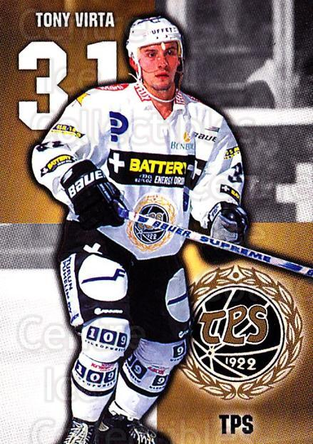 1999-00 Finnish Cardset #137 Tony Virta<br/>7 In Stock - $2.00 each - <a href=https://centericecollectibles.foxycart.com/cart?name=1999-00%20Finnish%20Cardset%20%23137%20Tony%20Virta...&quantity_max=7&price=$2.00&code=75549 class=foxycart> Buy it now! </a>