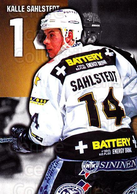 1999-00 Finnish Cardset #138 Kalle Sahlstedt<br/>7 In Stock - $2.00 each - <a href=https://centericecollectibles.foxycart.com/cart?name=1999-00%20Finnish%20Cardset%20%23138%20Kalle%20Sahlstedt...&quantity_max=7&price=$2.00&code=75550 class=foxycart> Buy it now! </a>