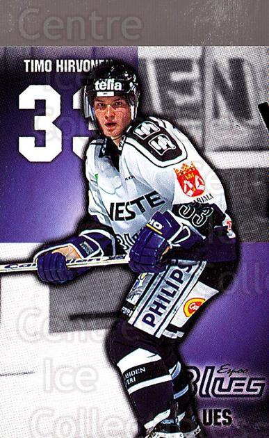 1999-00 Finnish Cardset #14 Timo Hirvonen<br/>5 In Stock - $2.00 each - <a href=https://centericecollectibles.foxycart.com/cart?name=1999-00%20Finnish%20Cardset%20%2314%20Timo%20Hirvonen...&quantity_max=5&price=$2.00&code=75552 class=foxycart> Buy it now! </a>