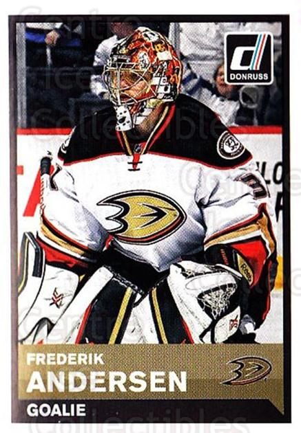 2015-16 Panini Stickers #239 Frederik Andersen<br/>1 In Stock - $1.00 each - <a href=https://centericecollectibles.foxycart.com/cart?name=2015-16%20Panini%20Stickers%20%23239%20Frederik%20Anders...&quantity_max=1&price=$1.00&code=755662 class=foxycart> Buy it now! </a>
