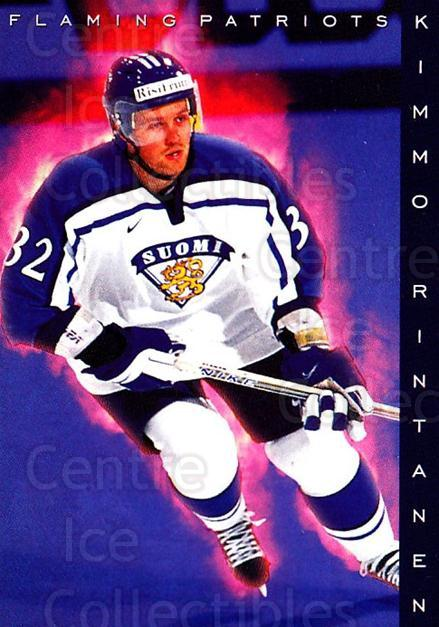 1999-00 Finnish Cardset #196 Kimmo Rintanen<br/>6 In Stock - $2.00 each - <a href=https://centericecollectibles.foxycart.com/cart?name=1999-00%20Finnish%20Cardset%20%23196%20Kimmo%20Rintanen...&quantity_max=6&price=$2.00&code=75608 class=foxycart> Buy it now! </a>