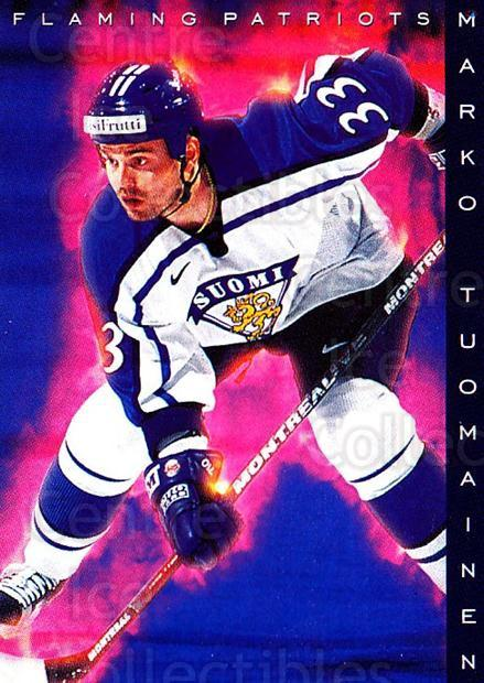 1999-00 Finnish Cardset #199 Marko Tuomainen<br/>5 In Stock - $2.00 each - <a href=https://centericecollectibles.foxycart.com/cart?name=1999-00%20Finnish%20Cardset%20%23199%20Marko%20Tuomainen...&quantity_max=5&price=$2.00&code=75610 class=foxycart> Buy it now! </a>