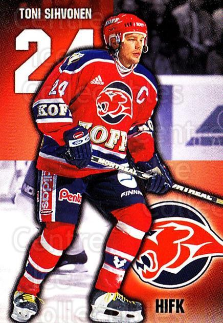1999-00 Finnish Cardset #230 Toni Sihvonen<br/>10 In Stock - $2.00 each - <a href=https://centericecollectibles.foxycart.com/cart?name=1999-00%20Finnish%20Cardset%20%23230%20Toni%20Sihvonen...&quantity_max=10&price=$2.00&code=75644 class=foxycart> Buy it now! </a>