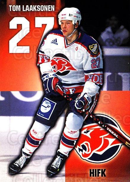 1999-00 Finnish Cardset #24 Tom Laaksonen<br/>7 In Stock - $2.00 each - <a href=https://centericecollectibles.foxycart.com/cart?name=1999-00%20Finnish%20Cardset%20%2324%20Tom%20Laaksonen...&quantity_max=7&price=$2.00&code=75654 class=foxycart> Buy it now! </a>