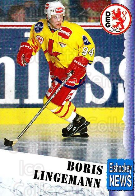 1999-00 German Bundesliga 2 #104 Boris Lingemann<br/>12 In Stock - $2.00 each - <a href=https://centericecollectibles.foxycart.com/cart?name=1999-00%20German%20Bundesliga%202%20%23104%20Boris%20Lingemann...&quantity_max=12&price=$2.00&code=75689 class=foxycart> Buy it now! </a>