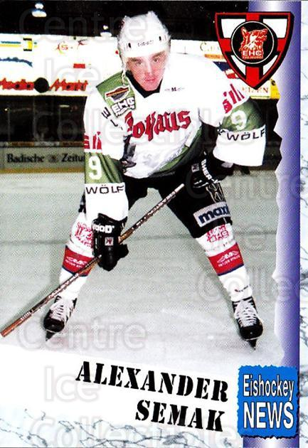 1999-00 German Bundesliga 2 #108 Alexander Semak<br/>7 In Stock - $2.00 each - <a href=https://centericecollectibles.foxycart.com/cart?name=1999-00%20German%20Bundesliga%202%20%23108%20Alexander%20Semak...&quantity_max=7&price=$2.00&code=75692 class=foxycart> Buy it now! </a>