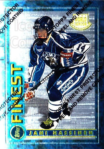 1994-95 Finest #136 Jani Hassinen<br/>6 In Stock - $1.00 each - <a href=https://centericecollectibles.foxycart.com/cart?name=1994-95%20Finest%20%23136%20Jani%20Hassinen...&price=$1.00&code=756 class=foxycart> Buy it now! </a>