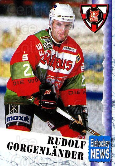 1999-00 German Bundesliga 2 #116 Rudolf Gorgenlander<br/>11 In Stock - $2.00 each - <a href=https://centericecollectibles.foxycart.com/cart?name=1999-00%20German%20Bundesliga%202%20%23116%20Rudolf%20Gorgenla...&quantity_max=11&price=$2.00&code=75700 class=foxycart> Buy it now! </a>