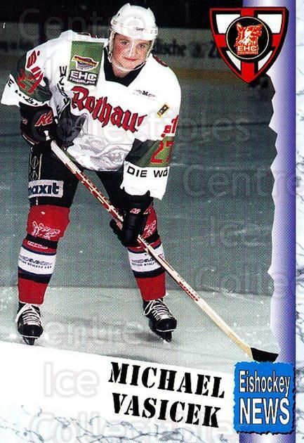 1999-00 German Bundesliga 2 #123 Michal Vasicek<br/>10 In Stock - $2.00 each - <a href=https://centericecollectibles.foxycart.com/cart?name=1999-00%20German%20Bundesliga%202%20%23123%20Michal%20Vasicek...&quantity_max=10&price=$2.00&code=75707 class=foxycart> Buy it now! </a>