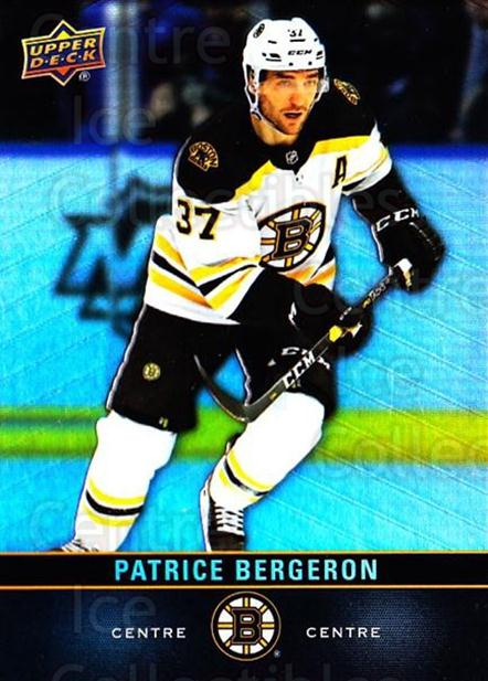 2019-20 Tim Hortons #37 Patrice Bergeron<br/>9 In Stock - $2.00 each - <a href=https://centericecollectibles.foxycart.com/cart?name=2019-20%20Tim%20Hortons%20%2337%20Patrice%20Bergero...&quantity_max=9&price=$2.00&code=757433 class=foxycart> Buy it now! </a>