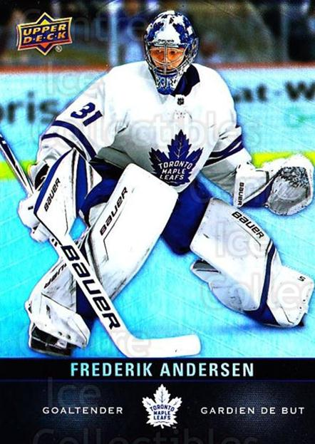 2019-20 Tim Hortons #75 Frederik Andersen<br/>9 In Stock - $1.00 each - <a href=https://centericecollectibles.foxycart.com/cart?name=2019-20%20Tim%20Hortons%20%2375%20Frederik%20Anders...&quantity_max=9&price=$1.00&code=757471 class=foxycart> Buy it now! </a>