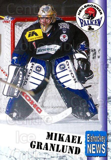 1999-00 German Bundesliga 2 #167 Mikael Granlund<br/>10 In Stock - $2.00 each - <a href=https://centericecollectibles.foxycart.com/cart?name=1999-00%20German%20Bundesliga%202%20%23167%20Mikael%20Granlund...&price=$2.00&code=75754 class=foxycart> Buy it now! </a>