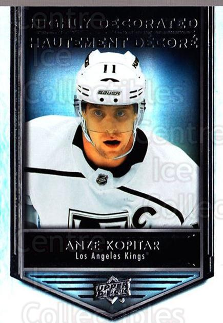 2019-20 Tim Hortons Highly Decorated #4 Anze Kopitar<br/>8 In Stock - $3.00 each - <a href=https://centericecollectibles.foxycart.com/cart?name=2019-20%20Tim%20Hortons%20Highly%20Decorated%20%234%20Anze%20Kopitar...&quantity_max=8&price=$3.00&code=757578 class=foxycart> Buy it now! </a>