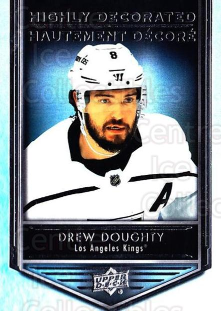 2019-20 Tim Hortons Highly Decorated #6 Drew Doughty<br/>8 In Stock - $3.00 each - <a href=https://centericecollectibles.foxycart.com/cart?name=2019-20%20Tim%20Hortons%20Highly%20Decorated%20%236%20Drew%20Doughty...&quantity_max=8&price=$3.00&code=757580 class=foxycart> Buy it now! </a>