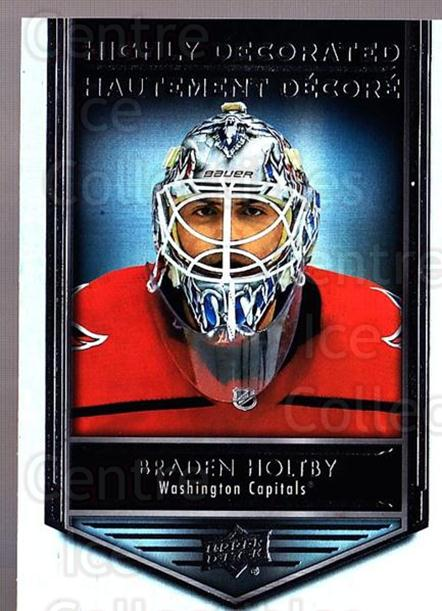 2019-20 Tim Hortons Highly Decorated #14 Braden Holtby<br/>8 In Stock - $3.00 each - <a href=https://centericecollectibles.foxycart.com/cart?name=2019-20%20Tim%20Hortons%20Highly%20Decorated%20%2314%20Braden%20Holtby...&quantity_max=8&price=$3.00&code=757588 class=foxycart> Buy it now! </a>