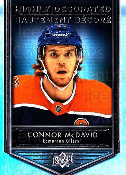 2019-20 Tim Hortons Highly Decorated #15 Connor McDavid<br/>8 In Stock - $5.00 each - <a href=https://centericecollectibles.foxycart.com/cart?name=2019-20%20Tim%20Hortons%20Highly%20Decorated%20%2315%20Connor%20McDavid...&quantity_max=8&price=$5.00&code=757589 class=foxycart> Buy it now! </a>