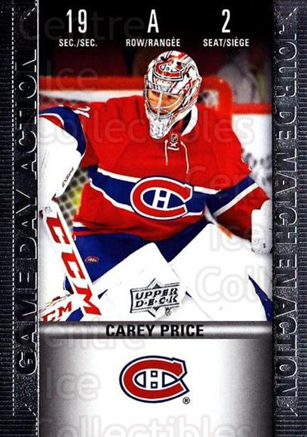 2019-20 Tim Hortons Game Day Action #2 Carey Price<br/>8 In Stock - $5.00 each - <a href=https://centericecollectibles.foxycart.com/cart?name=2019-20%20Tim%20Hortons%20Game%20Day%20Action%20%232%20Carey%20Price...&quantity_max=8&price=$5.00&code=757591 class=foxycart> Buy it now! </a>