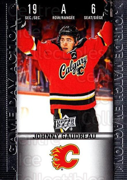 2019-20 Tim Hortons Game Day Action #6 Johnny Gaudreau<br/>7 In Stock - $3.00 each - <a href=https://centericecollectibles.foxycart.com/cart?name=2019-20%20Tim%20Hortons%20Game%20Day%20Action%20%236%20Johnny%20Gaudreau...&quantity_max=7&price=$3.00&code=757595 class=foxycart> Buy it now! </a>