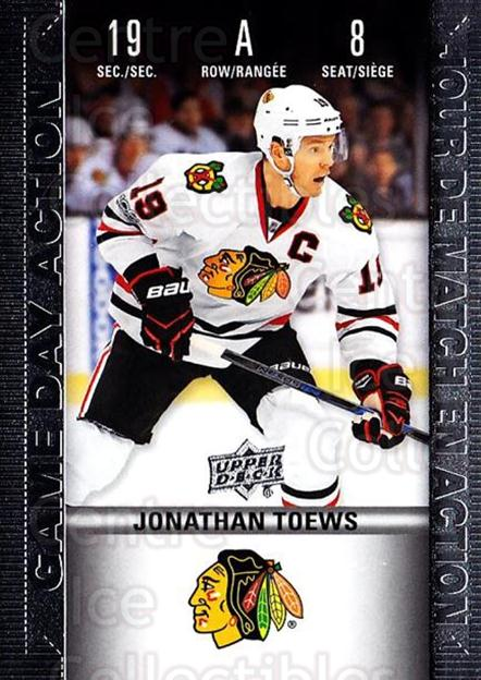 2019-20 Tim Hortons Game Day Action #8 Jonathan Toews<br/>8 In Stock - $3.00 each - <a href=https://centericecollectibles.foxycart.com/cart?name=2019-20%20Tim%20Hortons%20Game%20Day%20Action%20%238%20Jonathan%20Toews...&quantity_max=8&price=$3.00&code=757597 class=foxycart> Buy it now! </a>