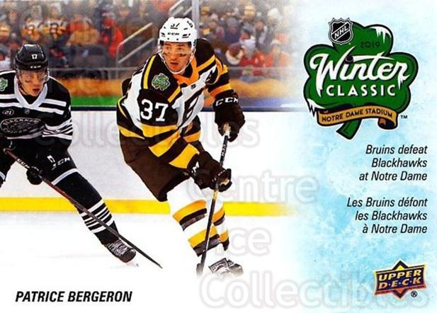 2019-20 Tim Hortons Season Events #5 Patrice Bergeron<br/>8 In Stock - $3.00 each - <a href=https://centericecollectibles.foxycart.com/cart?name=2019-20%20Tim%20Hortons%20Season%20Events%20%235%20Patrice%20Bergero...&quantity_max=8&price=$3.00&code=757609 class=foxycart> Buy it now! </a>