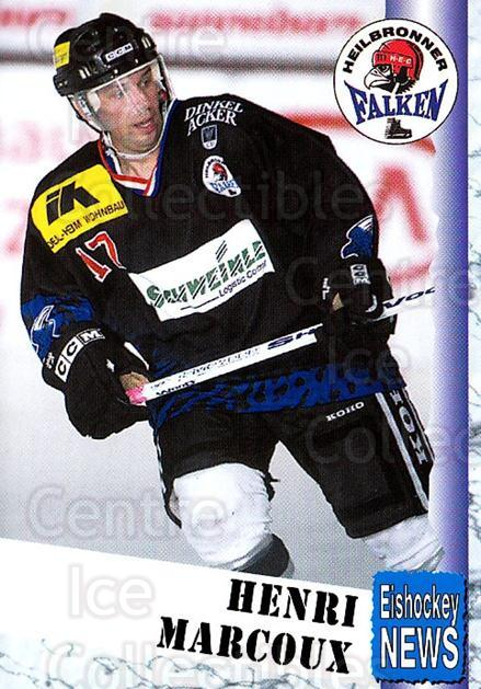 1999-00 German Bundesliga 2 #175 Henri Marcoux<br/>13 In Stock - $2.00 each - <a href=https://centericecollectibles.foxycart.com/cart?name=1999-00%20German%20Bundesliga%202%20%23175%20Henri%20Marcoux...&price=$2.00&code=75763 class=foxycart> Buy it now! </a>