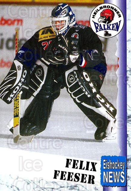 1999-00 German Bundesliga 2 #177 Felix Feeser<br/>13 In Stock - $2.00 each - <a href=https://centericecollectibles.foxycart.com/cart?name=1999-00%20German%20Bundesliga%202%20%23177%20Felix%20Feeser...&quantity_max=13&price=$2.00&code=75765 class=foxycart> Buy it now! </a>