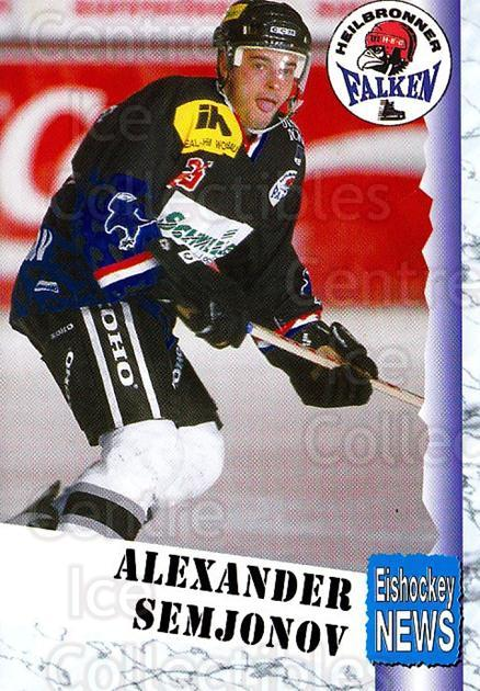 1999-00 German Bundesliga 2 #179 Alexander Semjonov<br/>10 In Stock - $2.00 each - <a href=https://centericecollectibles.foxycart.com/cart?name=1999-00%20German%20Bundesliga%202%20%23179%20Alexander%20Semjo...&price=$2.00&code=75767 class=foxycart> Buy it now! </a>