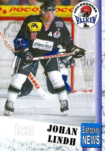 1999-00 German Bundesliga 2 #185 Johan Lindh<br/>13 In Stock - $2.00 each - <a href=https://centericecollectibles.foxycart.com/cart?name=1999-00%20German%20Bundesliga%202%20%23185%20Johan%20Lindh...&price=$2.00&code=75774 class=foxycart> Buy it now! </a>