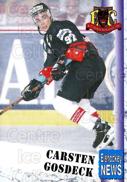 1999-00 German Bundesliga 2 #19 Carsten Gosdeck<br/>12 In Stock - $2.00 each - <a href=https://centericecollectibles.foxycart.com/cart?name=1999-00%20German%20Bundesliga%202%20%2319%20Carsten%20Gosdeck...&quantity_max=12&price=$2.00&code=75779 class=foxycart> Buy it now! </a>