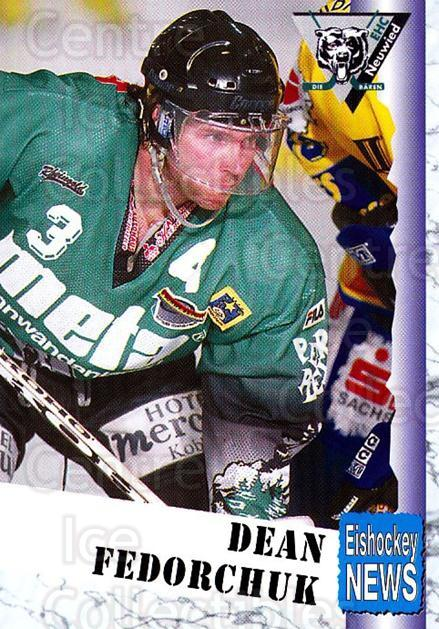1999-00 German Bundesliga 2 #231 Dean Fedorchuk<br/>8 In Stock - $2.00 each - <a href=https://centericecollectibles.foxycart.com/cart?name=1999-00%20German%20Bundesliga%202%20%23231%20Dean%20Fedorchuk...&quantity_max=8&price=$2.00&code=75822 class=foxycart> Buy it now! </a>