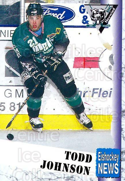 1999-00 German Bundesliga 2 #238 Todd Johnson<br/>12 In Stock - $2.00 each - <a href=https://centericecollectibles.foxycart.com/cart?name=1999-00%20German%20Bundesliga%202%20%23238%20Todd%20Johnson...&quantity_max=12&price=$2.00&code=75829 class=foxycart> Buy it now! </a>