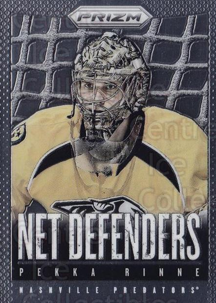 2013-14 Panini Prizm Net Defenders #19 Pekka Rinne<br/>1 In Stock - $3.00 each - <a href=https://centericecollectibles.foxycart.com/cart?name=2013-14%20Panini%20Prizm%20Net%20Defenders%20%2319%20Pekka%20Rinne...&quantity_max=1&price=$3.00&code=758343 class=foxycart> Buy it now! </a>