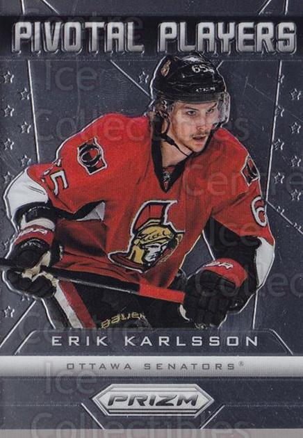 2013-14 Panini Prizm Pivotal Players #20 Erik Karlsson<br/>1 In Stock - $3.00 each - <a href=https://centericecollectibles.foxycart.com/cart?name=2013-14%20Panini%20Prizm%20Pivotal%20Players%20%2320%20Erik%20Karlsson...&quantity_max=1&price=$3.00&code=758364 class=foxycart> Buy it now! </a>