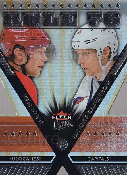 2014-15 Ultra Rule 76 #9 Eric Staal, Nicklas Backstrom<br/>1 In Stock - $10.00 each - <a href=https://centericecollectibles.foxycart.com/cart?name=2014-15%20Ultra%20Rule%2076%20%239%20Eric%20Staal,%20Nic...&quantity_max=1&price=$10.00&code=758383 class=foxycart> Buy it now! </a>