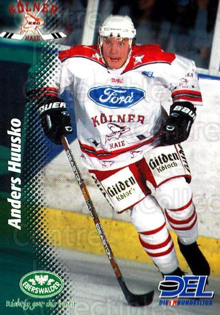 1999-00 German DEL #111 Anders Huusko<br/>11 In Stock - $2.00 each - <a href=https://centericecollectibles.foxycart.com/cart?name=1999-00%20German%20DEL%20%23111%20Anders%20Huusko...&quantity_max=11&price=$2.00&code=75847 class=foxycart> Buy it now! </a>