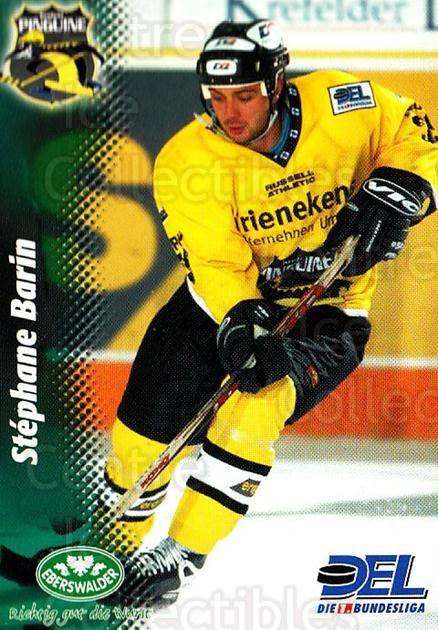 1999-00 German DEL #140 Stephane Barin<br/>7 In Stock - $2.00 each - <a href=https://centericecollectibles.foxycart.com/cart?name=1999-00%20German%20DEL%20%23140%20Stephane%20Barin...&quantity_max=7&price=$2.00&code=75878 class=foxycart> Buy it now! </a>