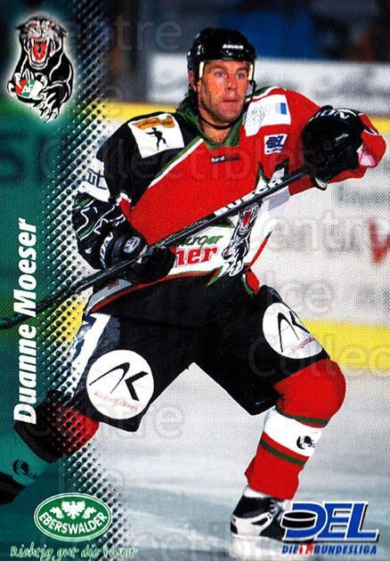 1999-00 German DEL #151 Duanne Moeser<br/>10 In Stock - $2.00 each - <a href=https://centericecollectibles.foxycart.com/cart?name=1999-00%20German%20DEL%20%23151%20Duanne%20Moeser...&quantity_max=10&price=$2.00&code=75890 class=foxycart> Buy it now! </a>
