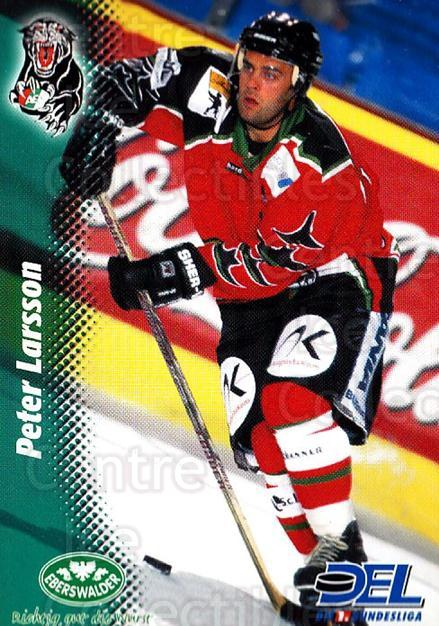 1999-00 German DEL #159 Peter Larsson<br/>8 In Stock - $2.00 each - <a href=https://centericecollectibles.foxycart.com/cart?name=1999-00%20German%20DEL%20%23159%20Peter%20Larsson...&quantity_max=8&price=$2.00&code=75898 class=foxycart> Buy it now! </a>