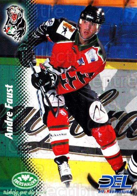 1999-00 German DEL #164 Andre Faust<br/>8 In Stock - $2.00 each - <a href=https://centericecollectibles.foxycart.com/cart?name=1999-00%20German%20DEL%20%23164%20Andre%20Faust...&quantity_max=8&price=$2.00&code=75904 class=foxycart> Buy it now! </a>