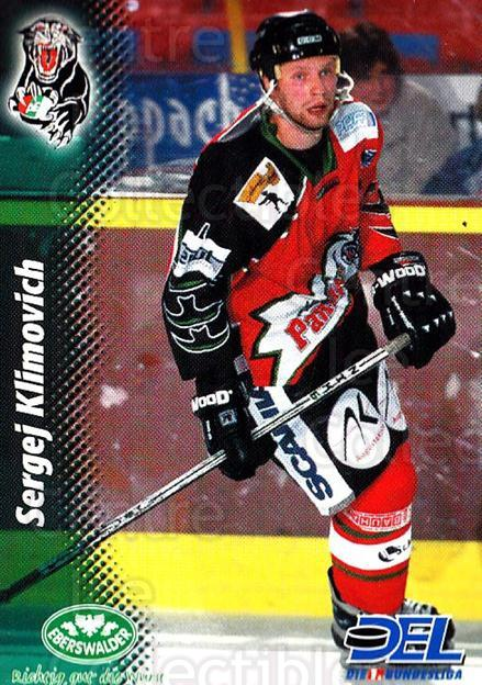 1999-00 German DEL #167 Sergei Klimovich<br/>7 In Stock - $2.00 each - <a href=https://centericecollectibles.foxycart.com/cart?name=1999-00%20German%20DEL%20%23167%20Sergei%20Klimovic...&quantity_max=7&price=$2.00&code=75907 class=foxycart> Buy it now! </a>