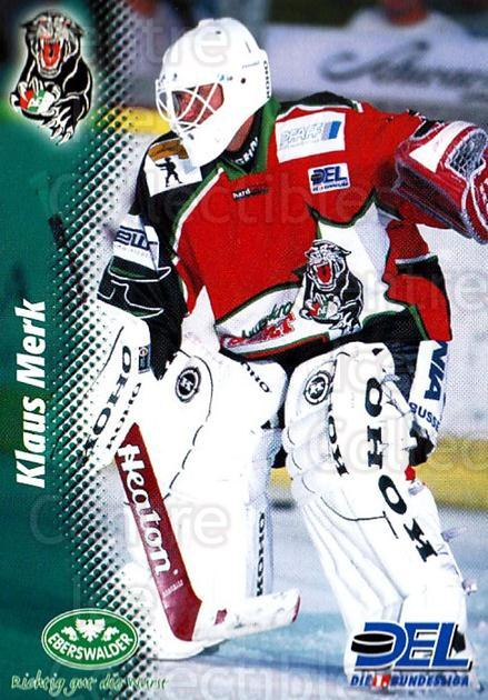 1999-00 German DEL #168 Klaus Merk<br/>6 In Stock - $2.00 each - <a href=https://centericecollectibles.foxycart.com/cart?name=1999-00%20German%20DEL%20%23168%20Klaus%20Merk...&quantity_max=6&price=$2.00&code=75908 class=foxycart> Buy it now! </a>