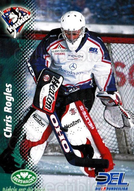 1999-00 German DEL #188 Chris Rogles<br/>6 In Stock - $2.00 each - <a href=https://centericecollectibles.foxycart.com/cart?name=1999-00%20German%20DEL%20%23188%20Chris%20Rogles...&quantity_max=6&price=$2.00&code=75930 class=foxycart> Buy it now! </a>