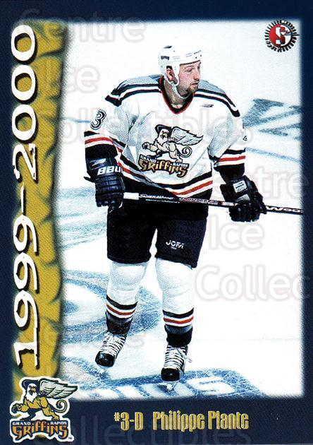 1999-00 Grand Rapids Griffins #18 Philippe Plante<br/>1 In Stock - $3.00 each - <a href=https://centericecollectibles.foxycart.com/cart?name=1999-00%20Grand%20Rapids%20Griffins%20%2318%20Philippe%20Plante...&price=$3.00&code=76020 class=foxycart> Buy it now! </a>