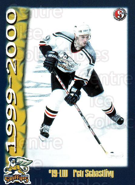 1999-00 Grand Rapids Griffins #22 Petr Schastlivy<br/>4 In Stock - $3.00 each - <a href=https://centericecollectibles.foxycart.com/cart?name=1999-00%20Grand%20Rapids%20Griffins%20%2322%20Petr%20Schastlivy...&price=$3.00&code=76023 class=foxycart> Buy it now! </a>