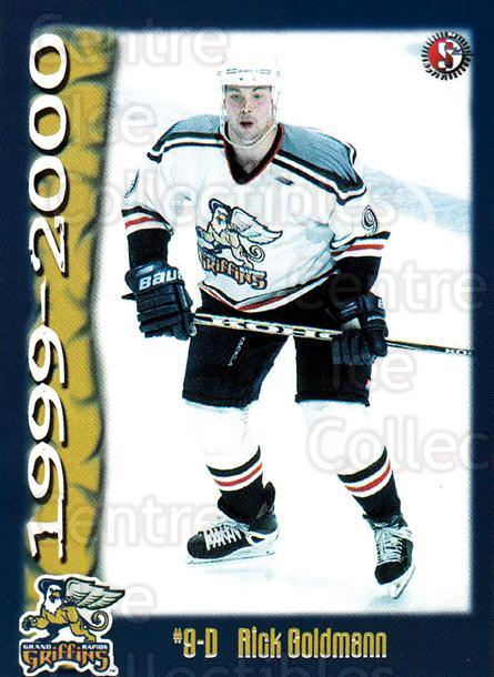 1999-00 Grand Rapids Griffins #7 Rick Goldman<br/>1 In Stock - $3.00 each - <a href=https://centericecollectibles.foxycart.com/cart?name=1999-00%20Grand%20Rapids%20Griffins%20%237%20Rick%20Goldman...&quantity_max=1&price=$3.00&code=76029 class=foxycart> Buy it now! </a>