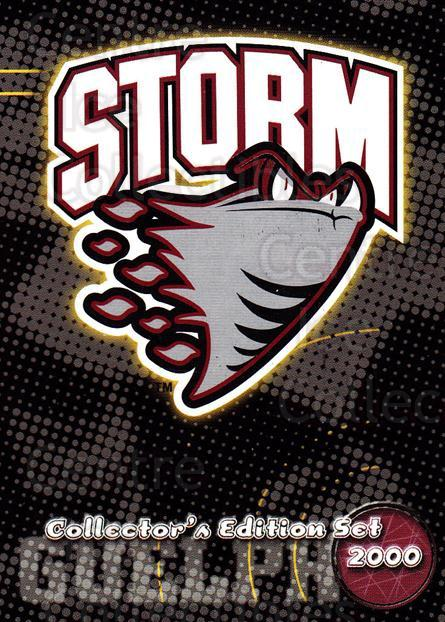 1999-00 Guelph Storm #1 Checklist<br/>1 In Stock - $3.00 each - <a href=https://centericecollectibles.foxycart.com/cart?name=1999-00%20Guelph%20Storm%20%231%20Checklist...&quantity_max=1&price=$3.00&code=76030 class=foxycart> Buy it now! </a>